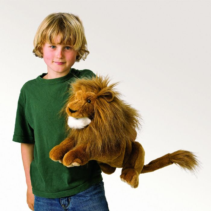 FOLKMANIS אריה בובת כף יד 2889