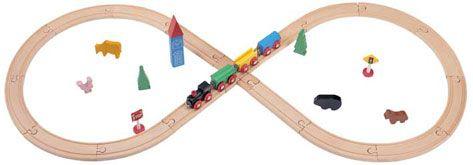 עולם הרכבות- רכבת 32 חלקים WOODEN TRAIN
