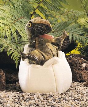 דינוזאור בוקע מביצה 2061  dinosaur puppet