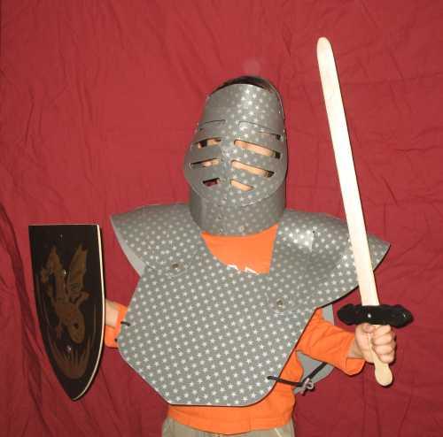 שריון וקסדת אבירים