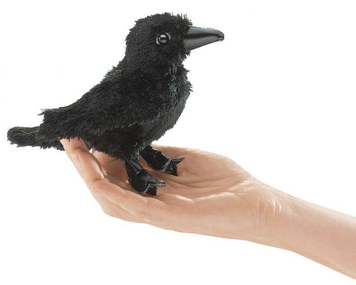 FOLKMANIS בובת אצבע עורב שחור 2698