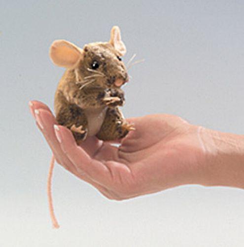 בובת אצבע עכבר חום