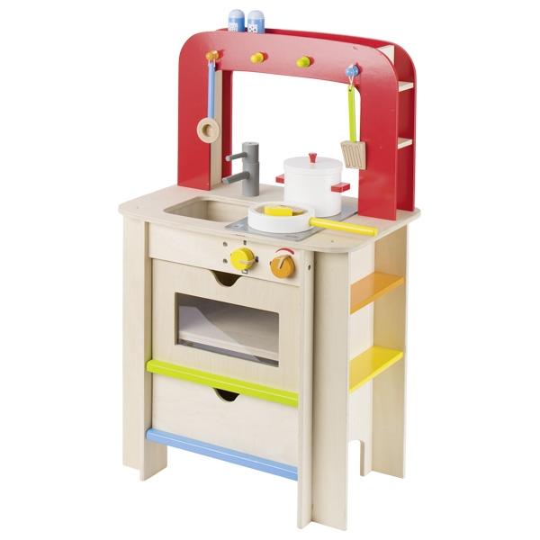 GOKI מטבח מעץ לילדים כולל כלים 51682