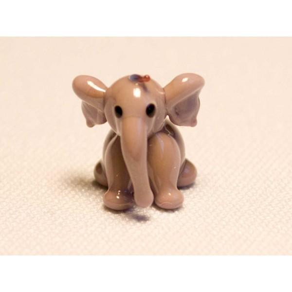 חיות מזכוכית פיל  אפרפר 81034