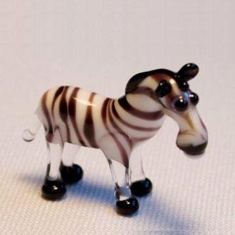 חיות קטנות מזכוכית זברה  עומדת 81034