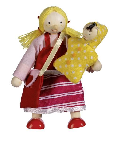 בובות לבית בובות אם ותינוק