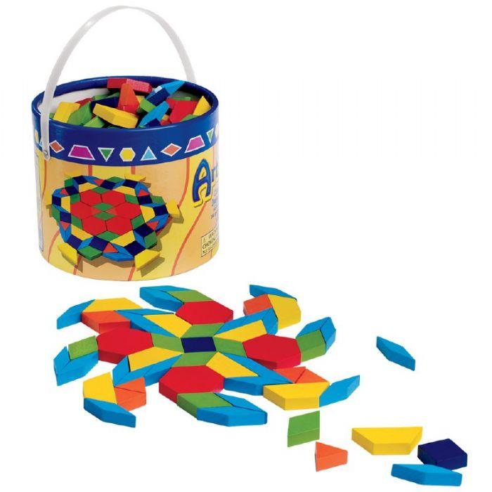 צעצועי עץ- פסיפס , גיאומטריק