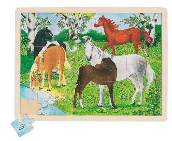 פאזל עץ סוסי פוני GOKI