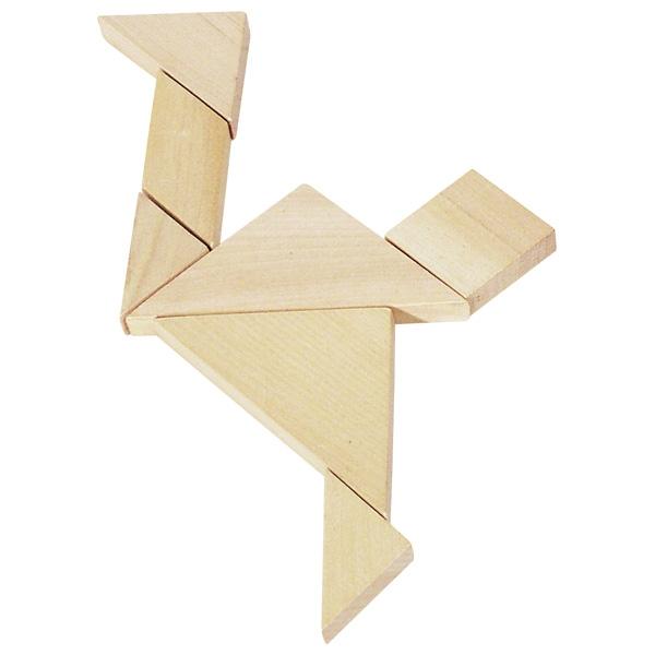 צעצועי עץ GOKI טנגרם משחק חשיבה HS008