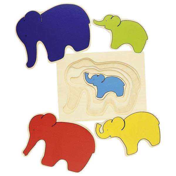 GOKI פאזל שכבות פילים 57883