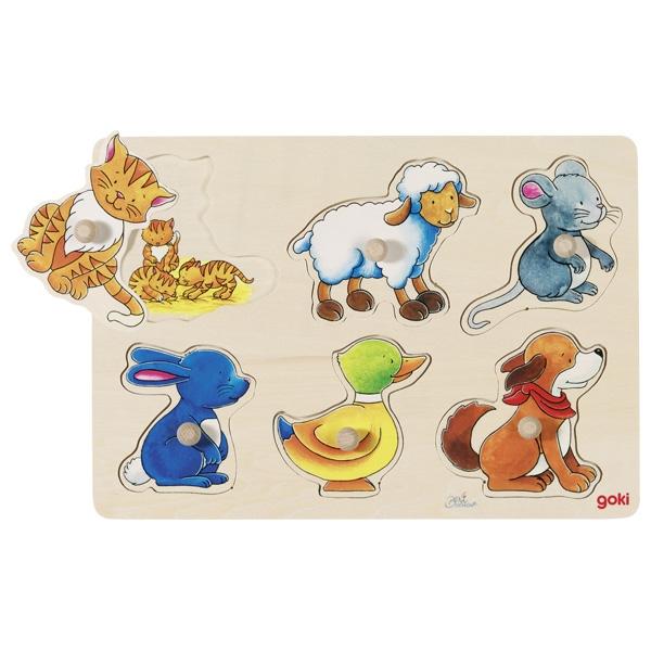 GOKI פאזל כפתורים בעלי חיים 57929