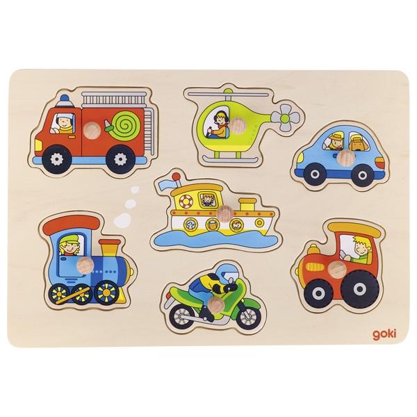 GOKI פאזל כפתורים כלי תחבורה 57491