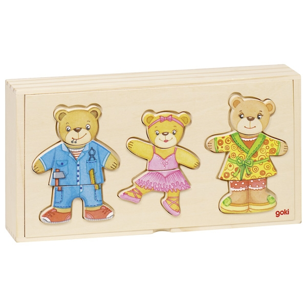 GOKI להלביש משפחת דובים 57811