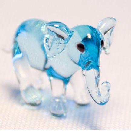חיות מזכוכית פיל עומד 81010