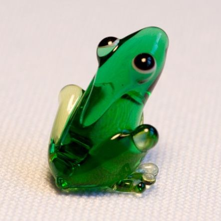 חיות מזכוכית צפרדע ירקרקה  81032