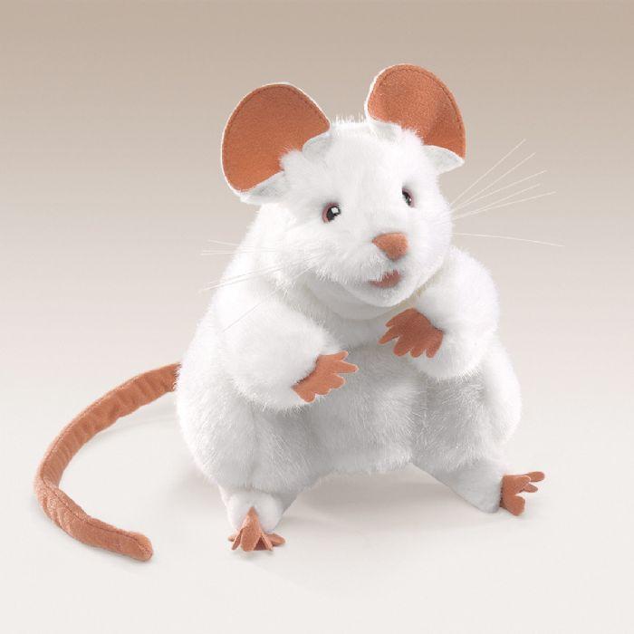 FOLKMANIS בובת עכבר לבן 2219