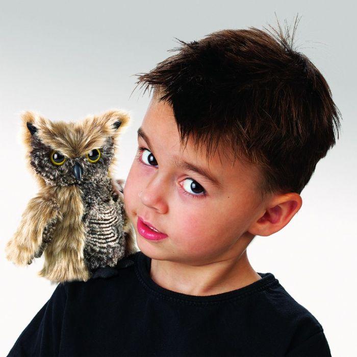 FOLKMANIS    בובת תיאטרון ינשוף צווחני Owl, Screech 2961