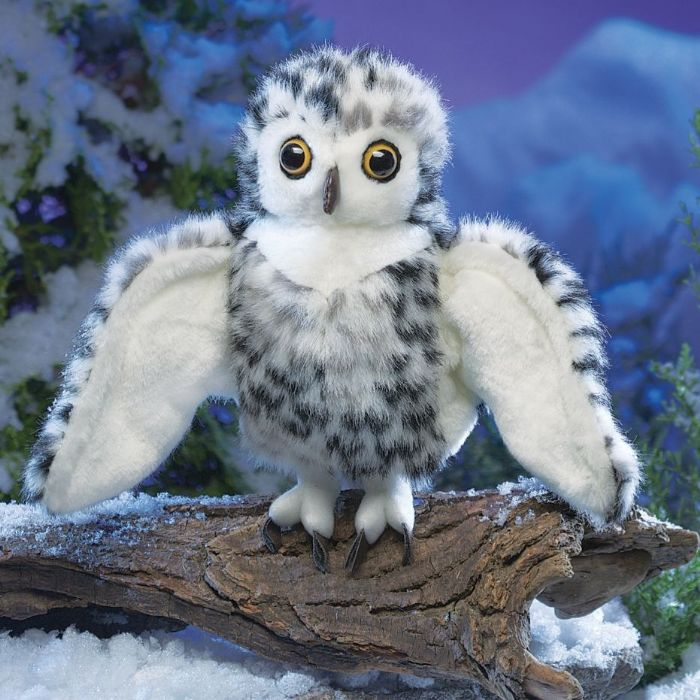 FOLKMANIS בובת ינשוף שלג קטן 3047