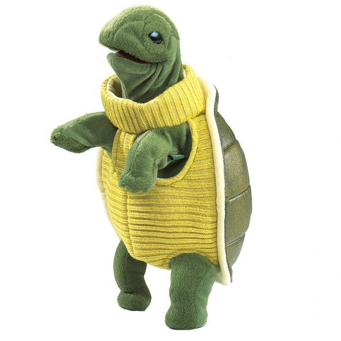 FOLKMANIS בובת צב עם סוודר 2881