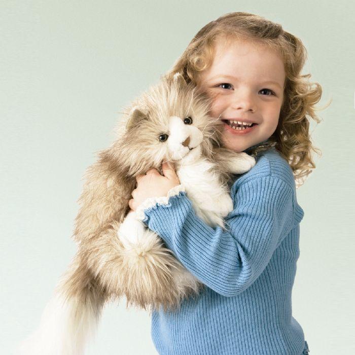 FOLKMANIS בובת תיאטרון חתול פרסי יושב 2566