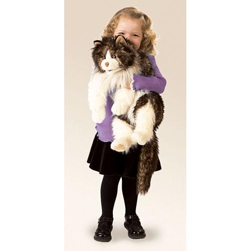 FOLKMANIS בובת תיאטון חתול סמרטוטי 2558