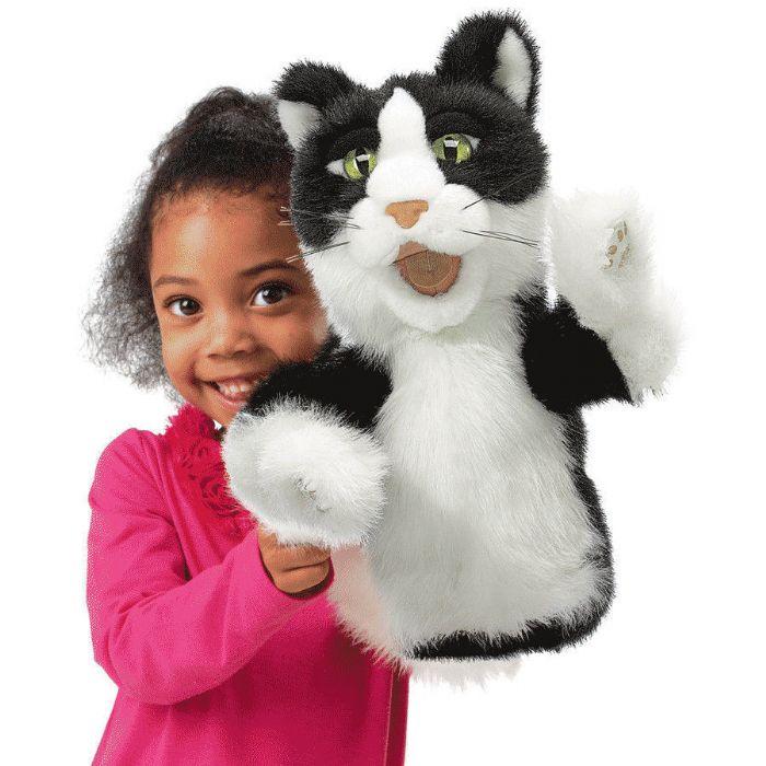 FOLKMANIS בובת חתול כף יד 2916