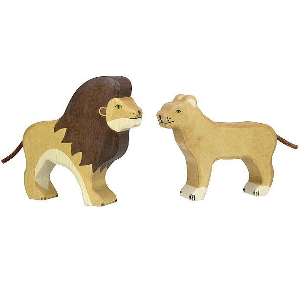 HOLZTIGER אריה ולביאה 90139