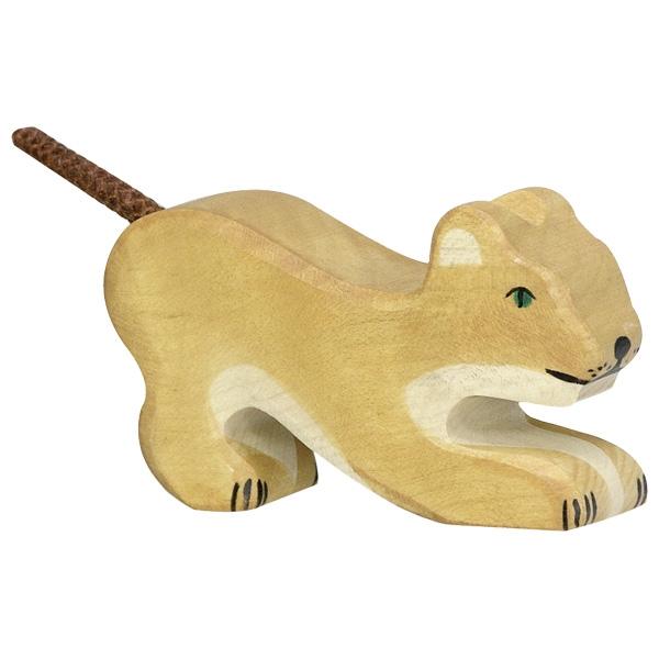 HOLZTIGER צעצועי עץ וולדורף גור אריה 80142