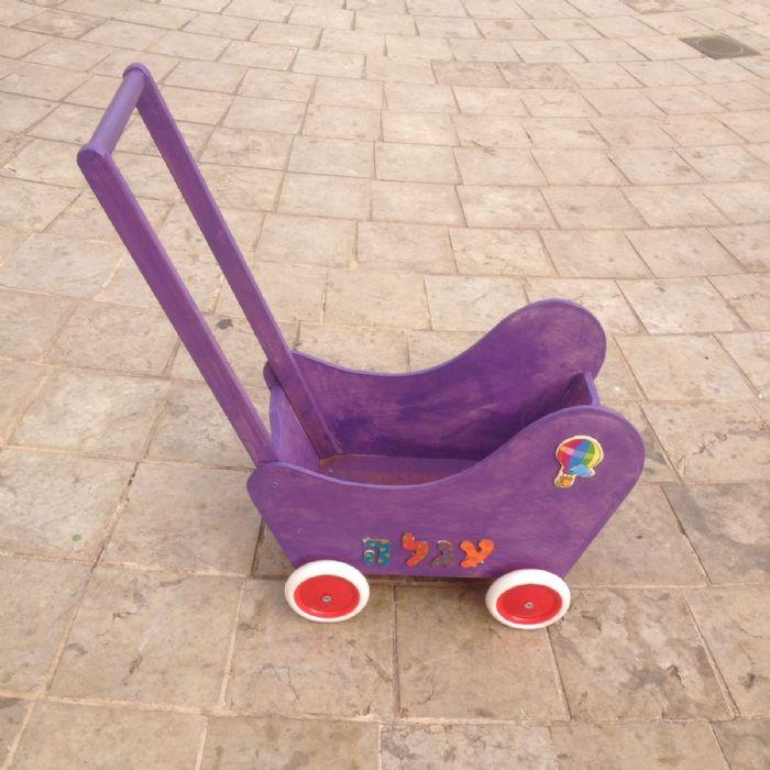 עגלה לבובה בצבע סגול 88918