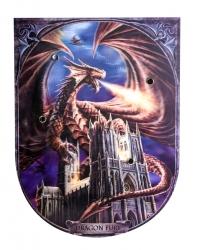 מגן מעץ עם דרקון בתלת מימד 700