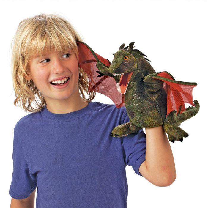 folkmanis דרקון אדום כנפיים 3051