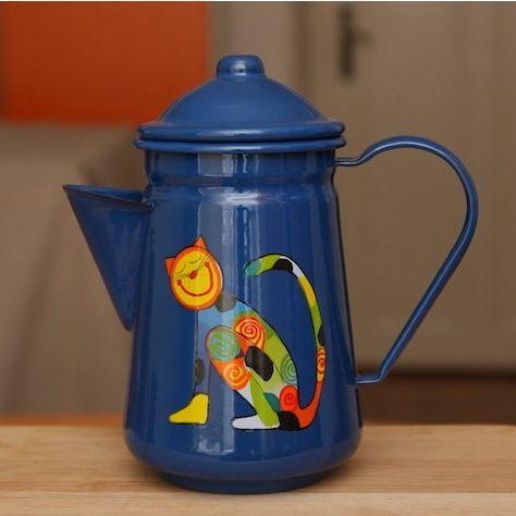 SMALTUM כלי אמייל  קנקן קפה כחול 1065