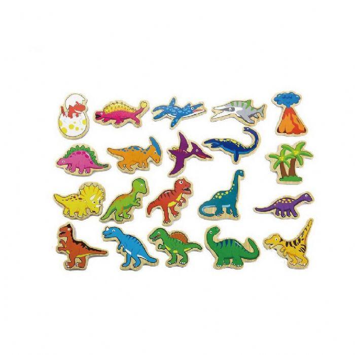 מגנט דינוזאורים מעץ 20 יחידות 50289