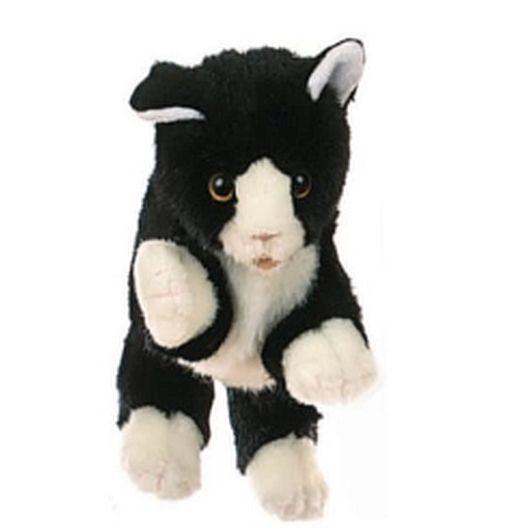 LIVING PUPPET  חתול שחור לבן  W045