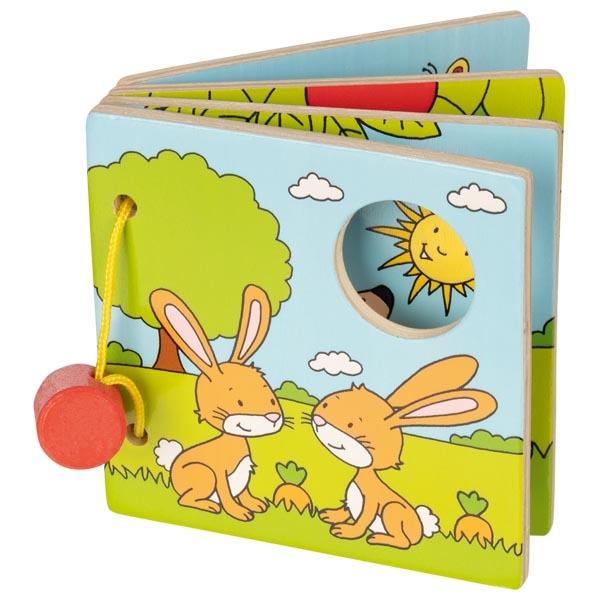 צעצועי עץ GOKI ספר מעץ לתינוקות  58755