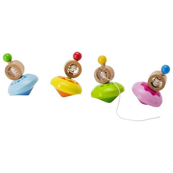 צעצועי עץ GOKI סביבון עם חוט 62927