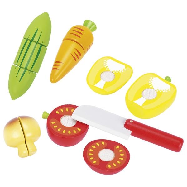 צעצועי עץ GOKI ירקות עם סקוטש 51590