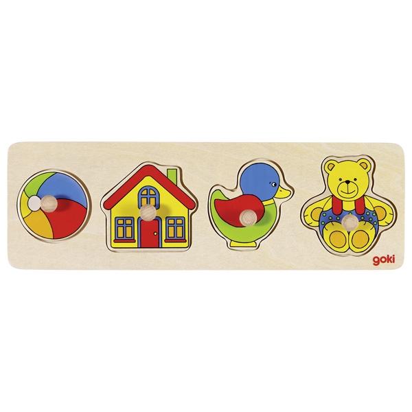 צעצועי עץ GOKI פאזל כפתורים 57998
