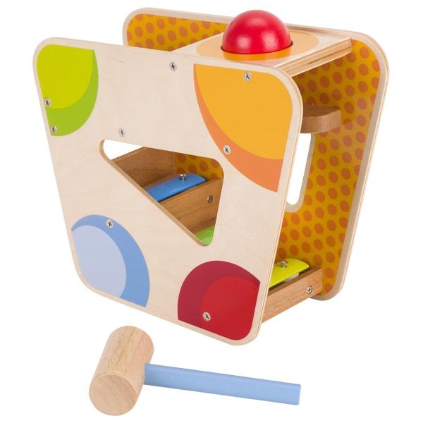 צעצועי עץ GOKI הך פטיש כדורים מוסיקלי 58521