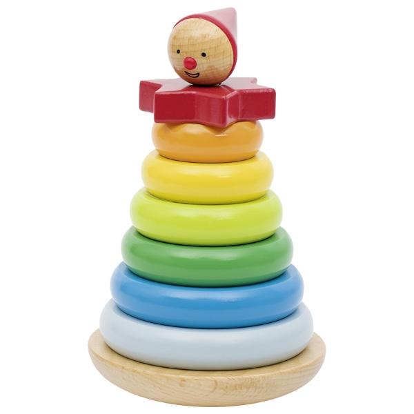 צעצועי עץ GOKI ליצן טבעות 57961
