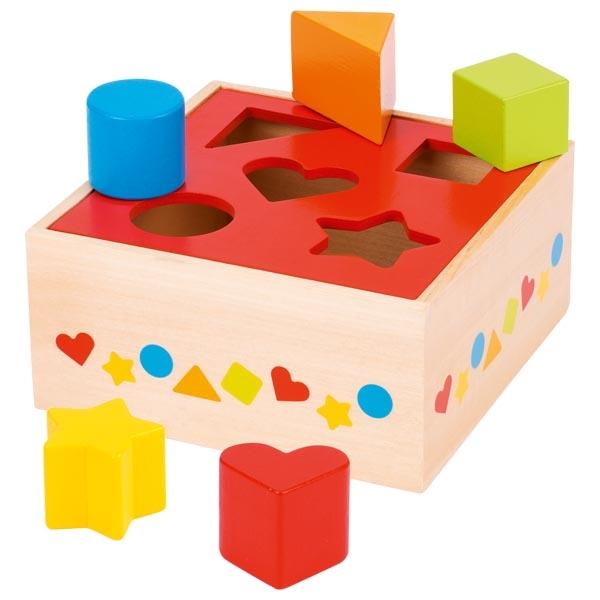 צעצועי עץ GOKI השחלת צורות 58580