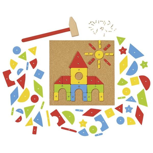 צעצועי עץ GOKI הך פטיש לוח שעם 58578