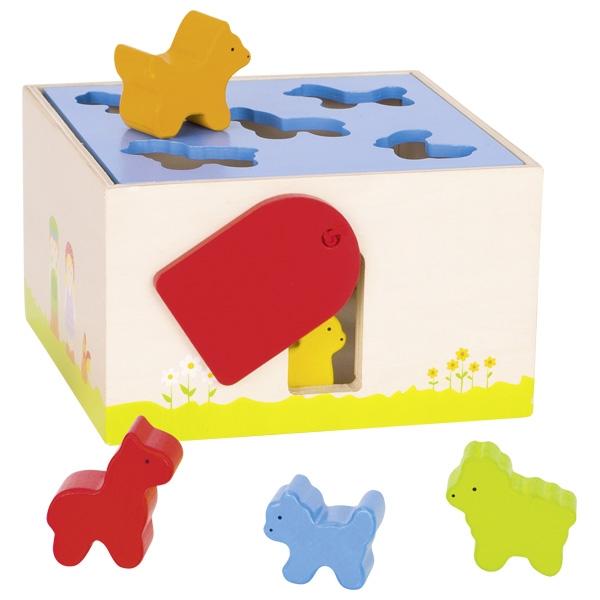 """צעצועי עץ GOKI השחלת צורות בע""""ח  58665"""