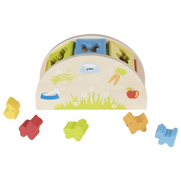 צעצועי עץ GOKI השחלת צורות 58666