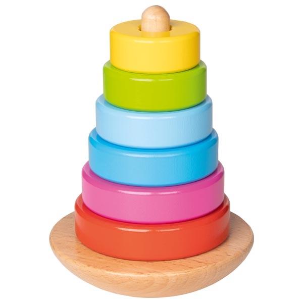 צעצועי עץ GOKI השחלת טבעות 58925