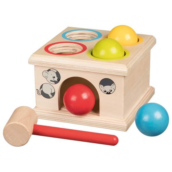 צעצועי עץ GOKI הך פטיש כדורים WM914