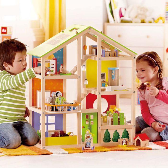 בית בובות ענק HAPE E3401, צעצועי עץ