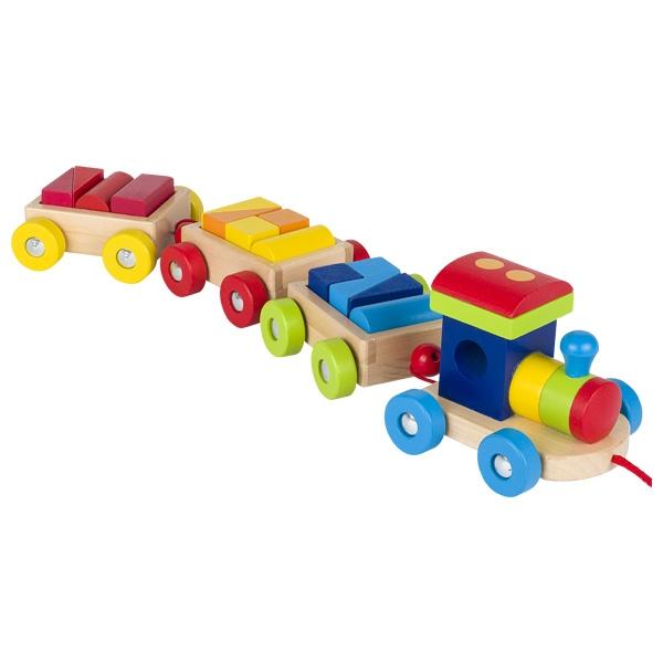 צעצועי עץ GOKI רכבת מעץ לתינוקות 55950