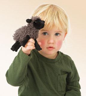 בובת אצבע-כיבשה שחורה-כבשה-2713-Mini Black Sheep