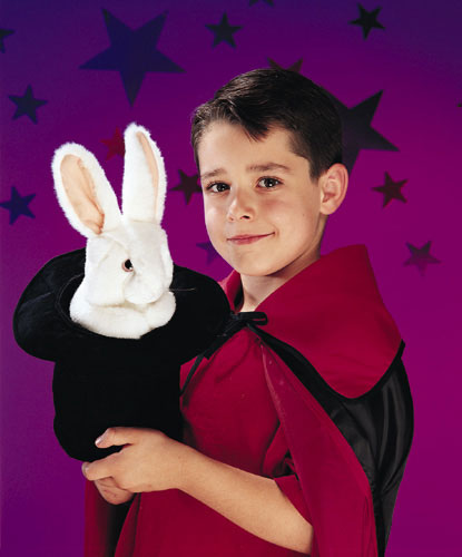 FOLKMANIS ארנב בכובע -- בובת כף יד 2269